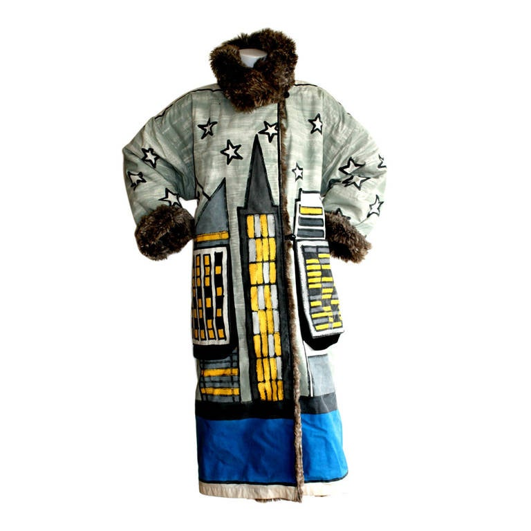 Museum Piece Jean Charles de Castelbajac Hand Painted Orbit Reversible Jacket