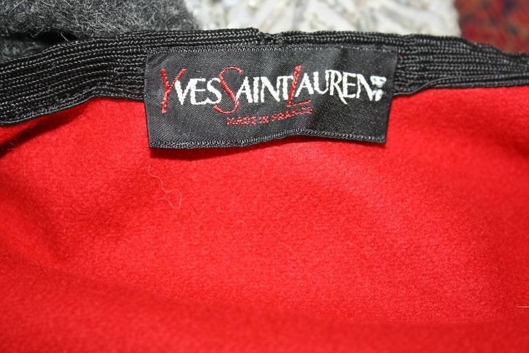 "YSL Yves Saint Laurent Vintage "" Russian Collection "" Red Opera Cape 7"