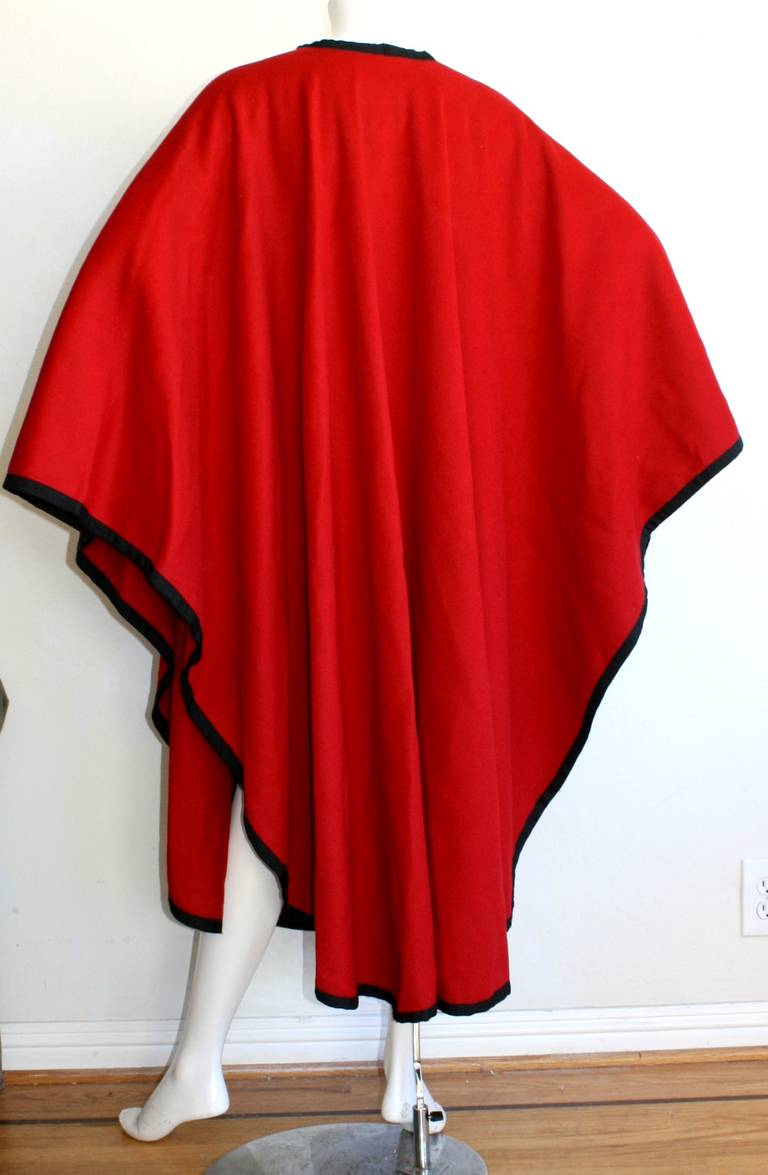 "YSL Yves Saint Laurent Vintage "" Russian Collection "" Red Opera Cape 5"
