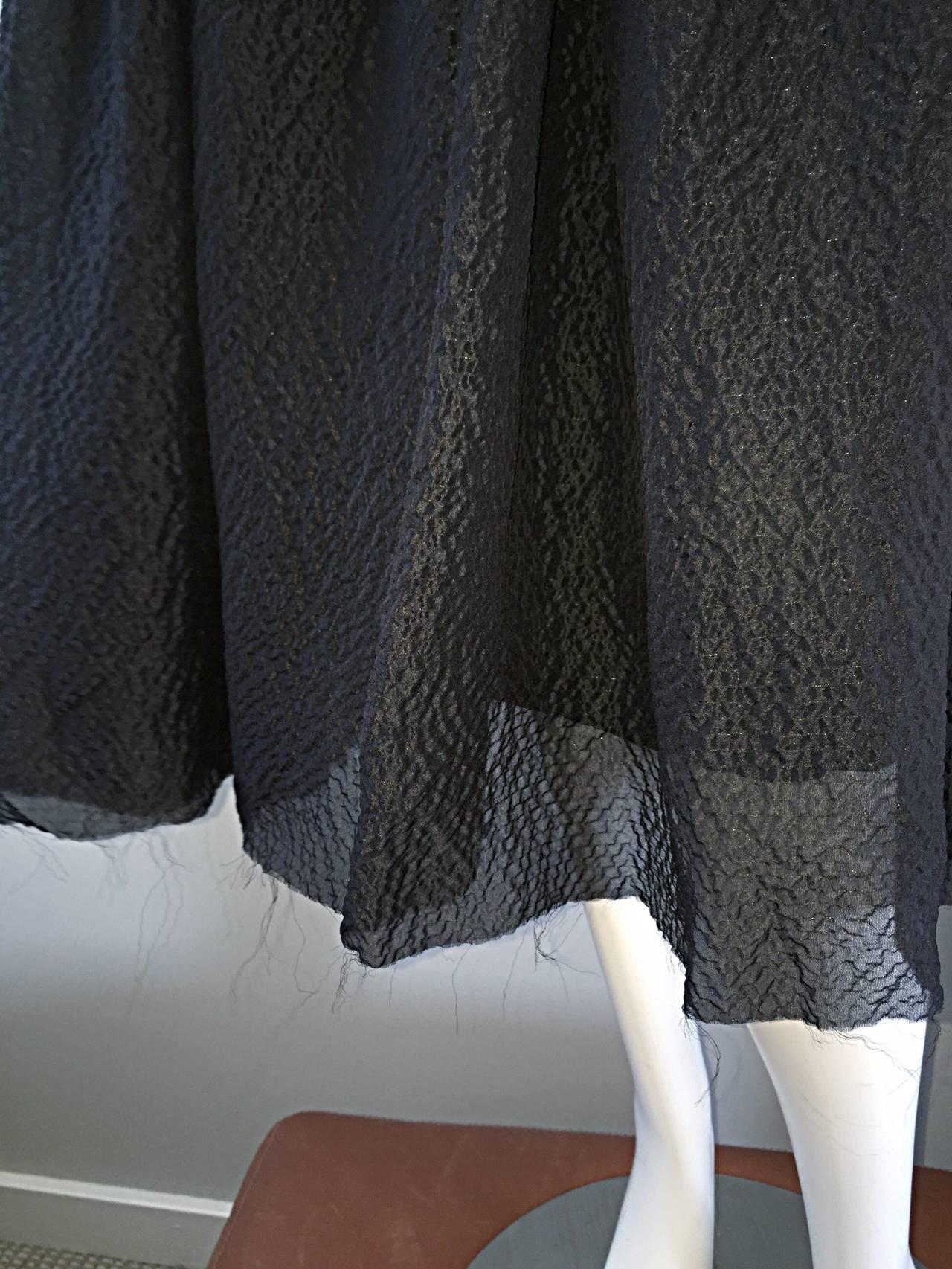 New Dolce & Gabbana Black Silk Bustier Runway Dress from