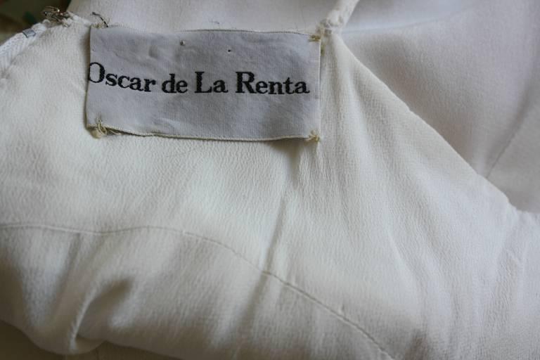 Beautiful 1970s Vintage Oscar de la Renta White Jewel Gown Perfect Wedding Dress 9