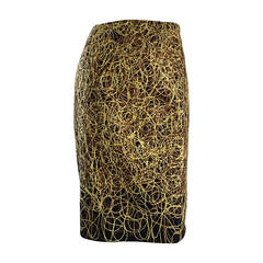 Vintage Jean - Charles de Castelbajac Embroidered ' Scribble ' Pencil Skirt