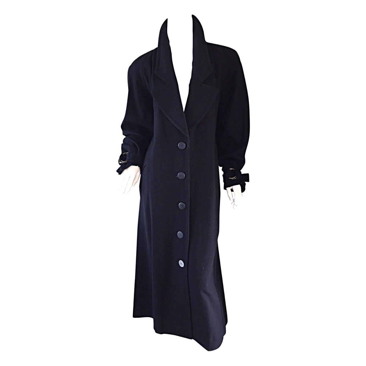 Vintage Chloe by Karl Lagerfeld Black Wool + Cashmere Avant Garde Spy Jacket