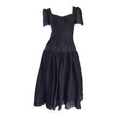 "New Dolce & Gabbana Black Silk Bustier Runway Dress from "" Spanish Collection"""