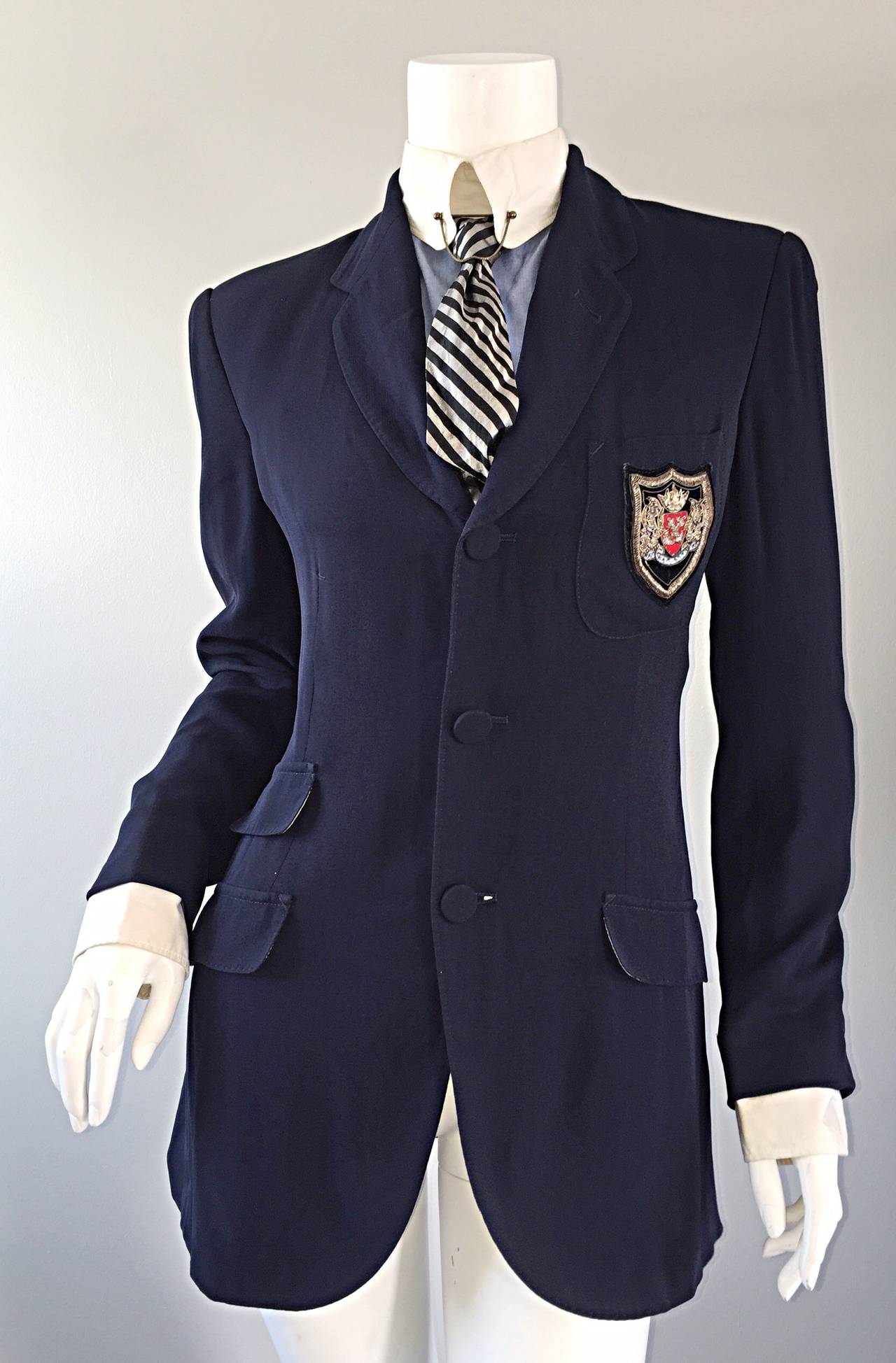 Extremely Rare Vintage Jean Paul Gaultier ' Schoolboy ' All - In - One Blazer 2