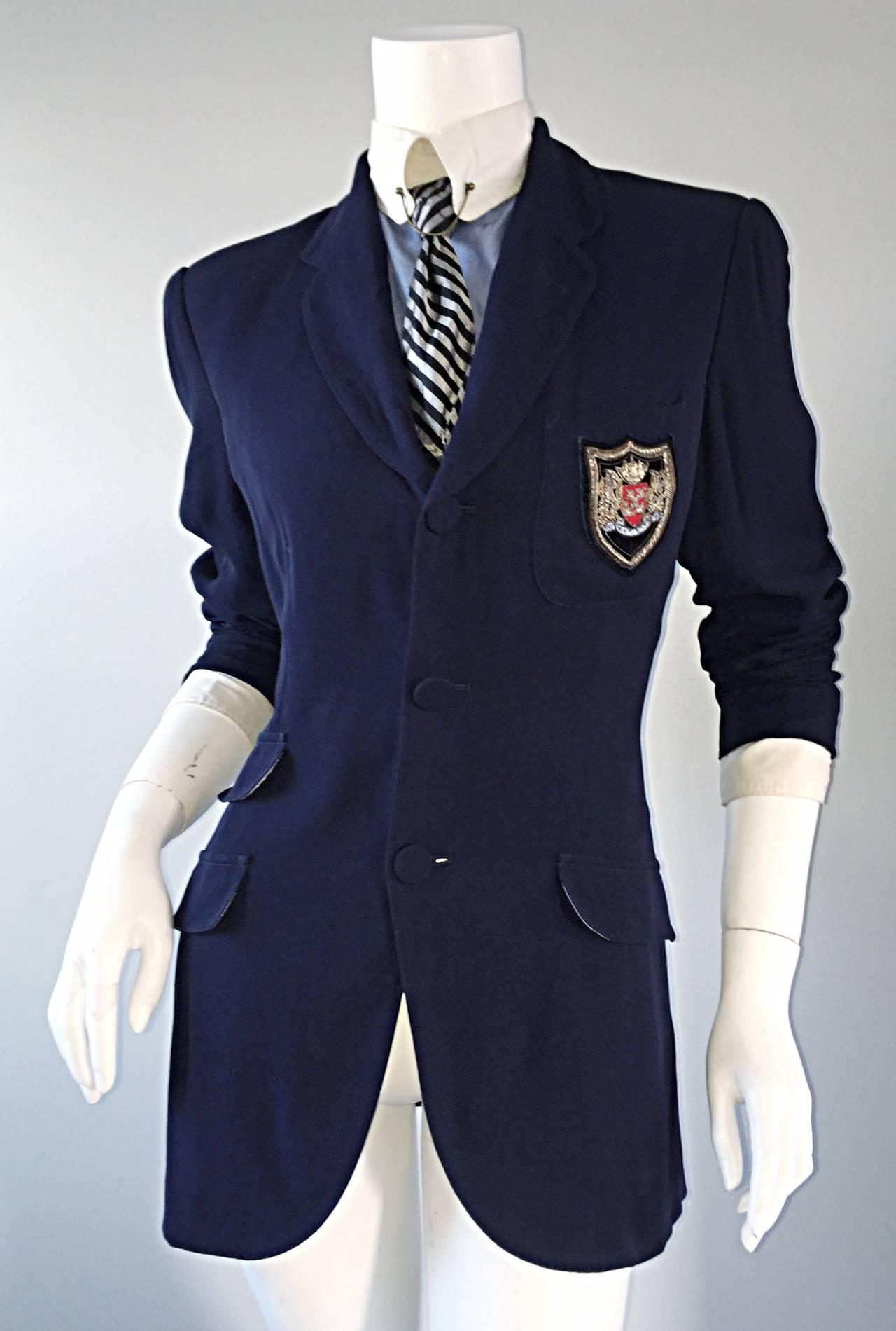 Extremely Rare Vintage Jean Paul Gaultier ' Schoolboy ' All - In - One Blazer 5