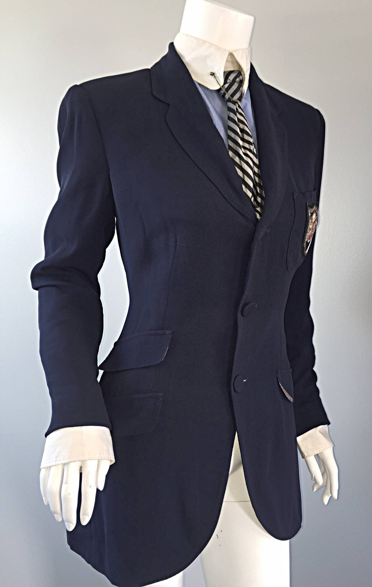 Extremely Rare Vintage Jean Paul Gaultier ' Schoolboy ' All - In - One Blazer 7