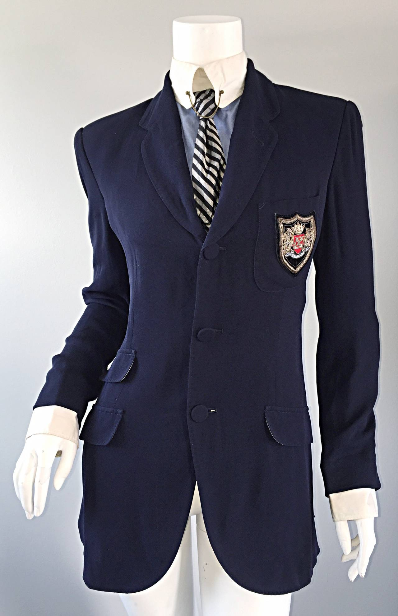 Extremely Rare Vintage Jean Paul Gaultier ' Schoolboy ' All - In - One Blazer 8