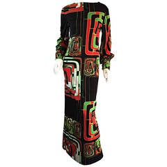 Vintage Rizkallah for Malcolm Starr Op - Art Long Sleeve Maxi Dress
