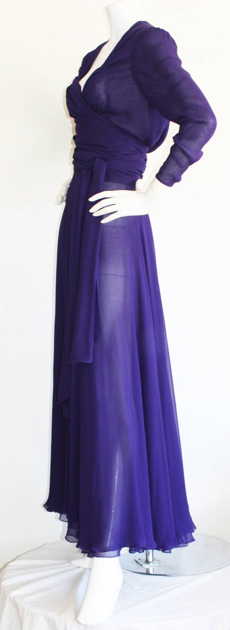 June Carter Cash's Stunning Vintage Purple Chiffon Gown ... June Carter Dress