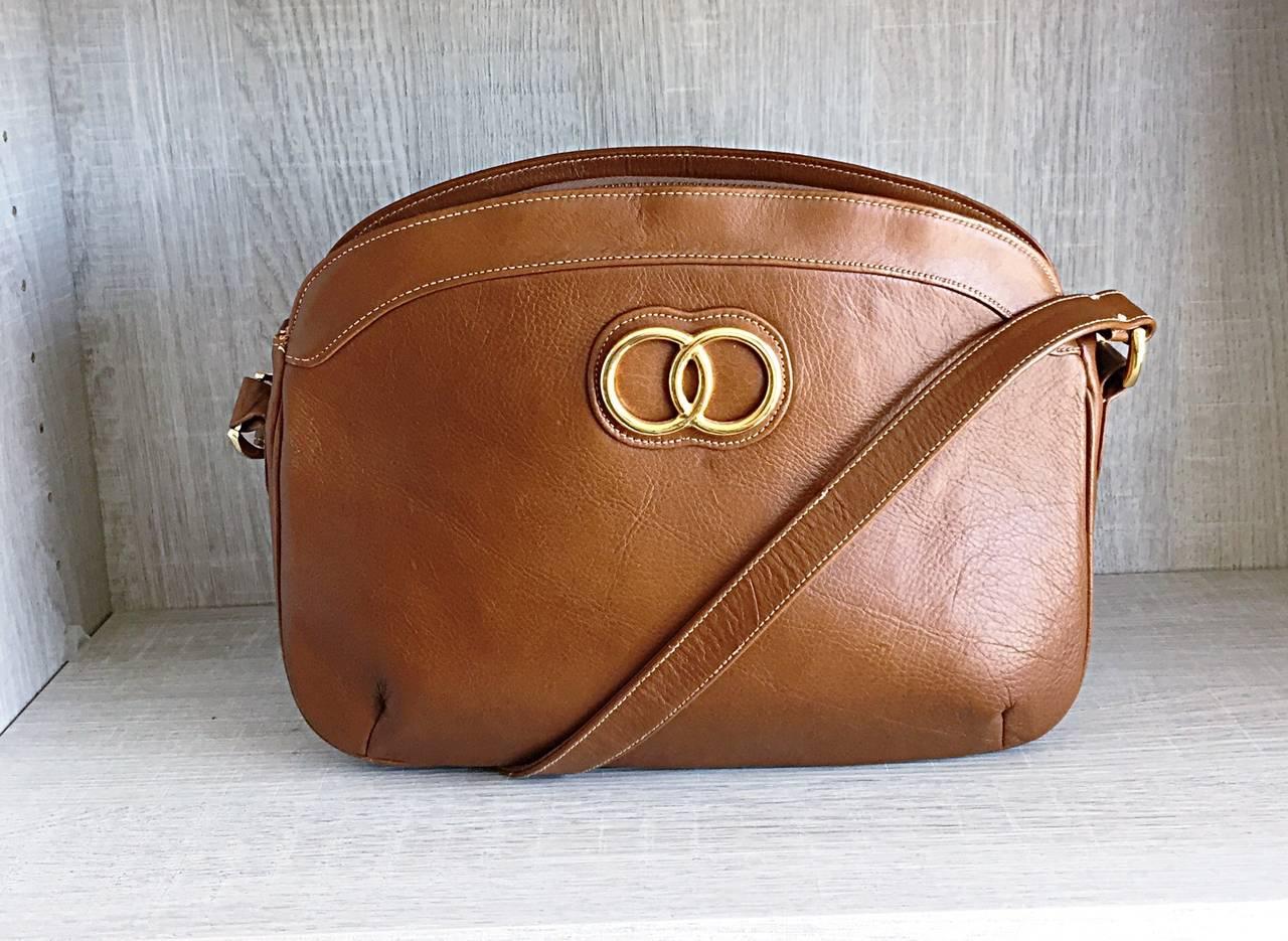 Brown Perfect Brand New Vintage Saks Fifth Avenue Saddle Tan Handbag Purse Bag For
