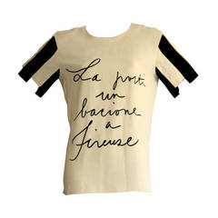 """Moschino Couture """"Cruise Me Baby"""" Vintage Jailhouse Rock Blouse"""