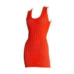 Gianni Versace Couture Vintage Red Cut - Out Dress 1990s Pre - Death