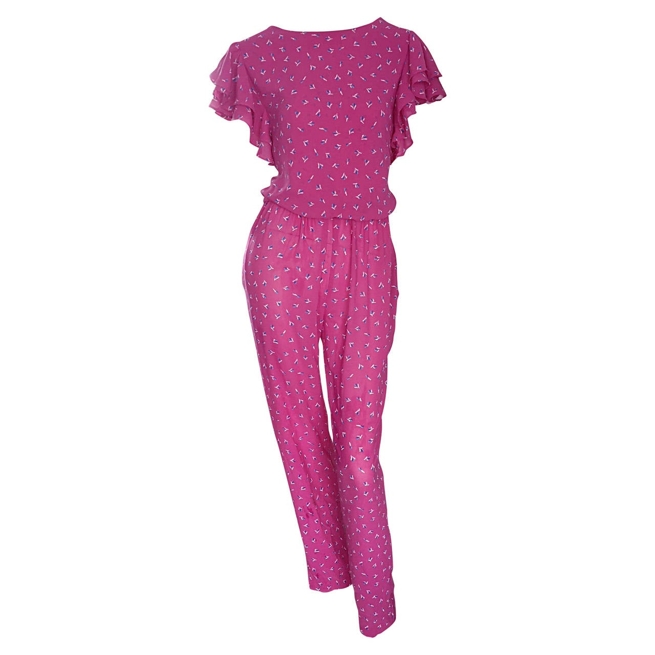 3e5b6f6c2ad Incredible Vintage Pink Boho Jumpsuit