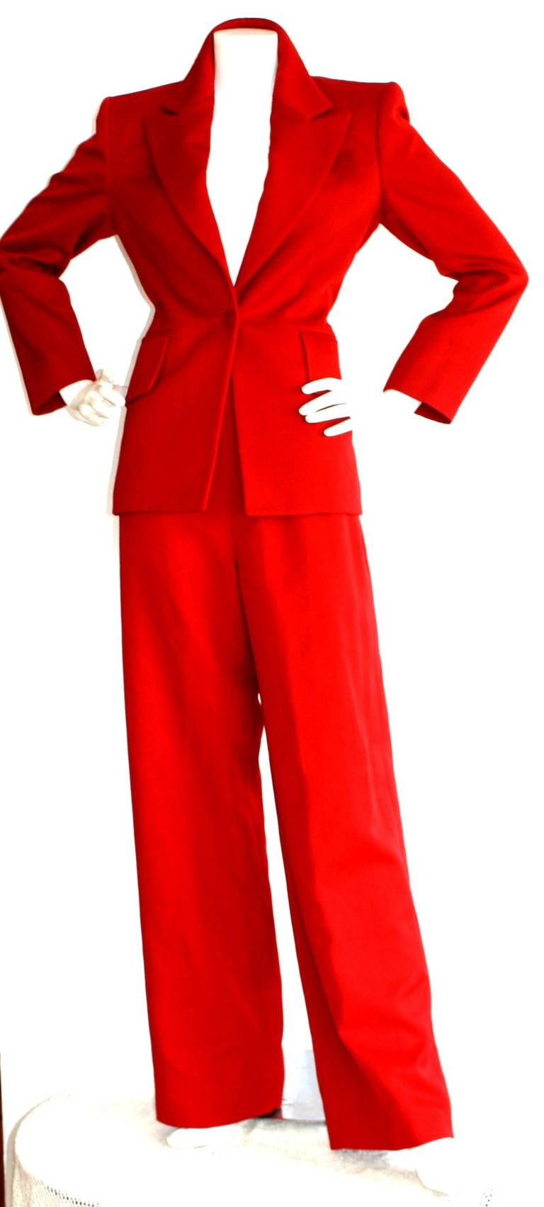 Isaac Mizrahi Vintage Lipstick Red Holiday Le Smoking Suit 2