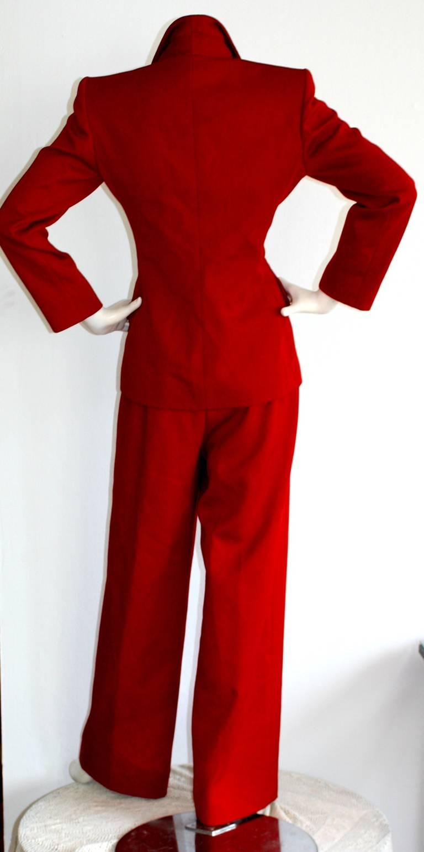 Isaac Mizrahi Vintage Lipstick Red Holiday Le Smoking Suit 3