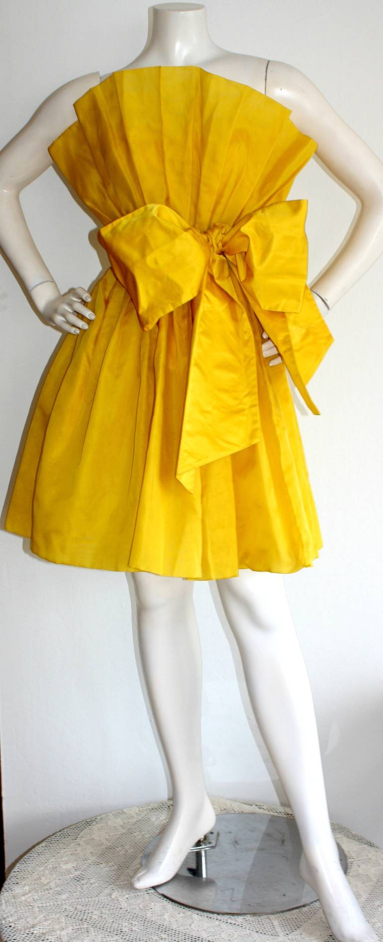 James Purcell Stunning Vintage Origami Fan Dress 2