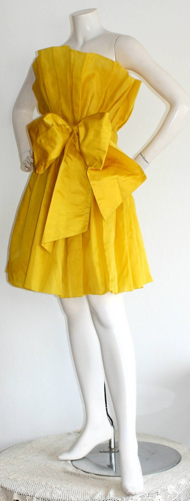 James Purcell Stunning Vintage Origami Fan Dress 6