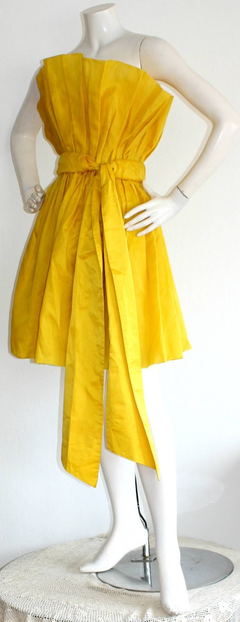 James Purcell Stunning Vintage Origami Fan Dress 3