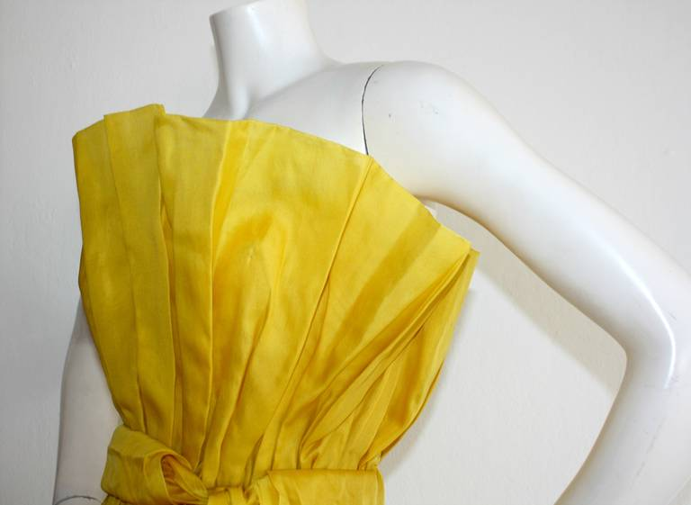 James Purcell Stunning Vintage Origami Fan Dress 7