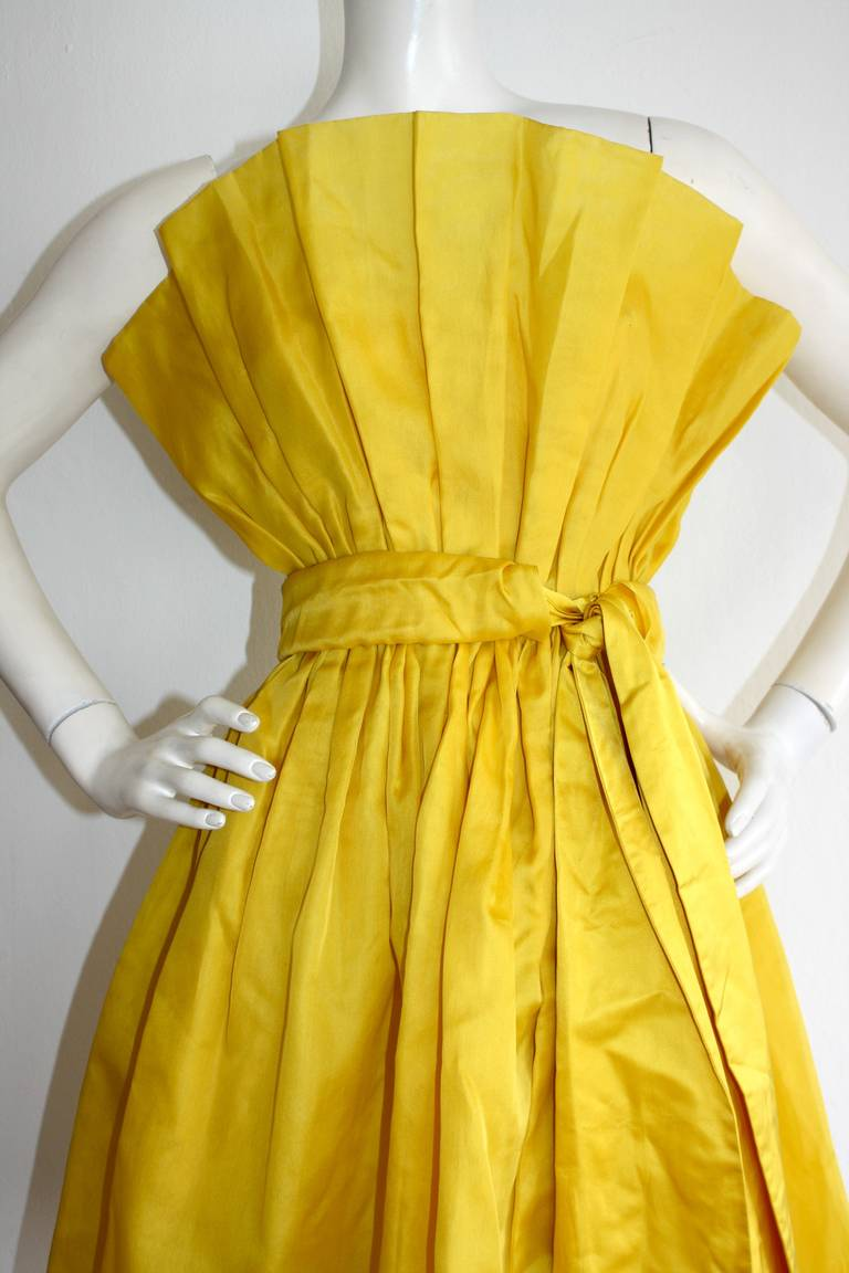 James Purcell Stunning Vintage Origami Fan Dress 5