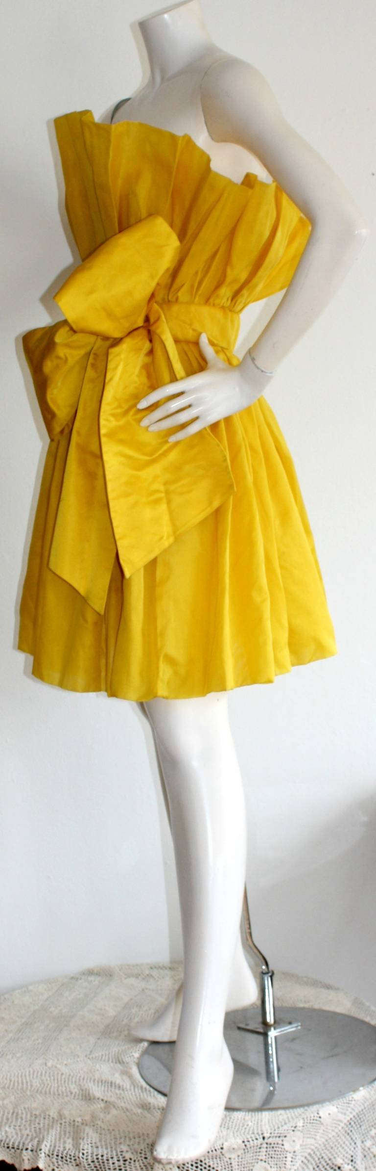 James Purcell Stunning Vintage Origami Fan Dress 4