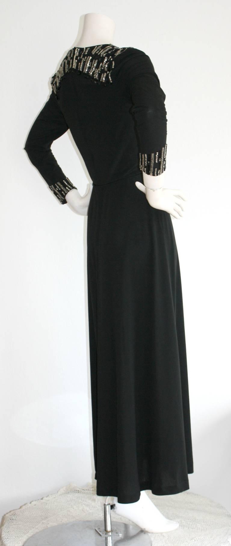 mr blackwell custom vintage dress rhinestones and jewels