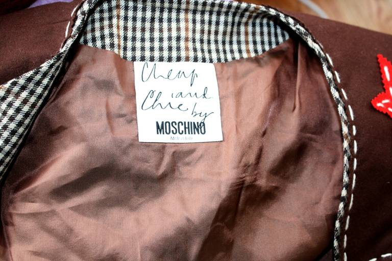 Rare Vintage Moschino Cheap & Chic Western Cowgirl Houndstooth Lace Suit 9