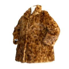 Incredibly Rare Vintage Fendi Mink Fur Swing Coat Jacket Reversible!