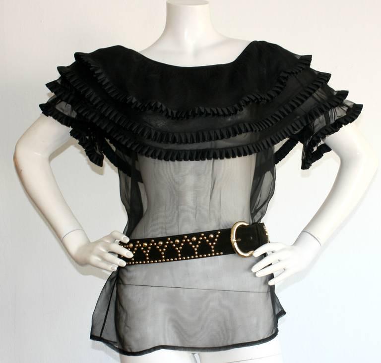 Vintage Saint Laurent YSL Black Studded