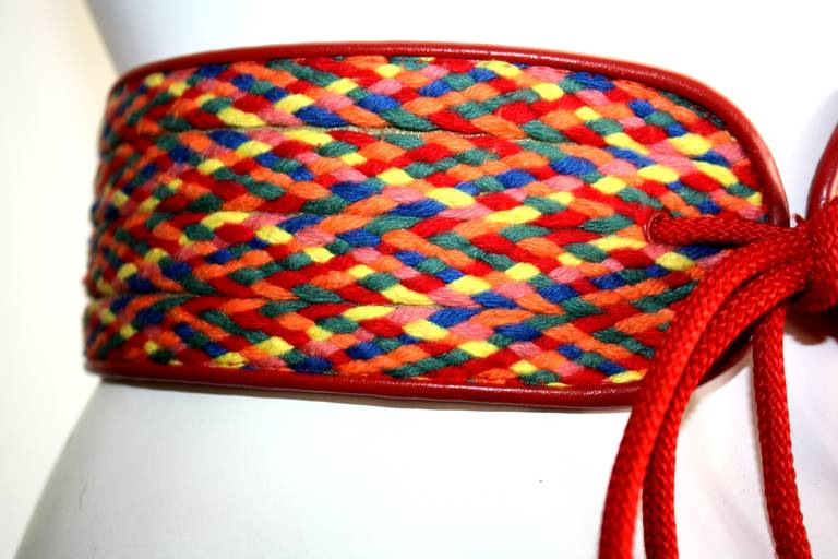"Amazing Rare Vintage YSL Rainbow Belt From Famed "" Russian Collection "" 3"