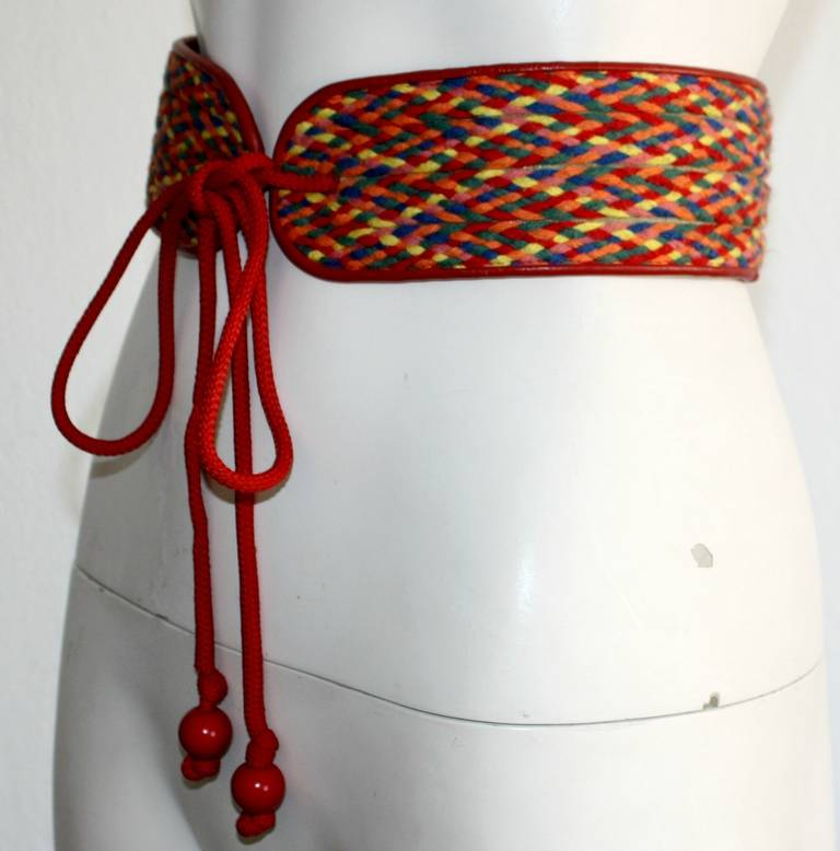 "Amazing Rare Vintage YSL Rainbow Belt From Famed "" Russian Collection "" 2"