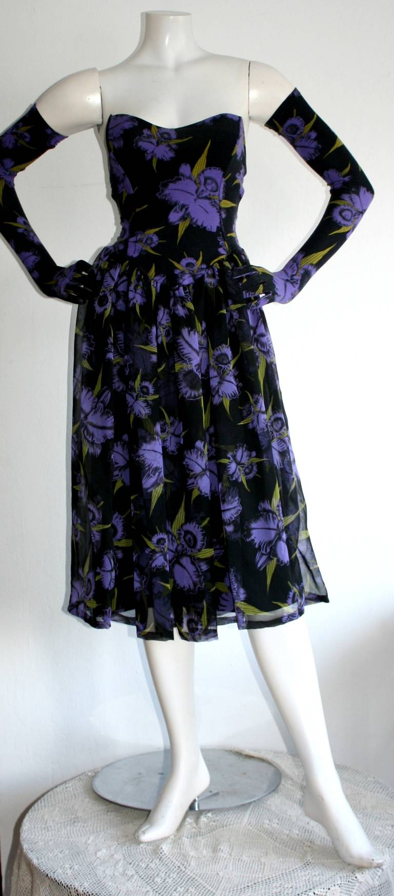 Vintage Betsey Johnson Punk Label Dress and Gloves 3