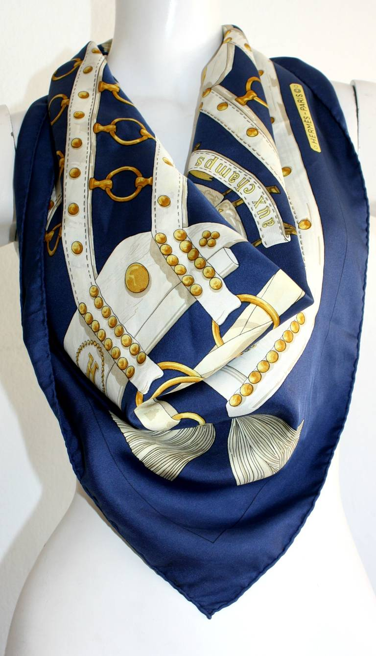 vintage hermes scarf quot aux chs quot by cathy latham