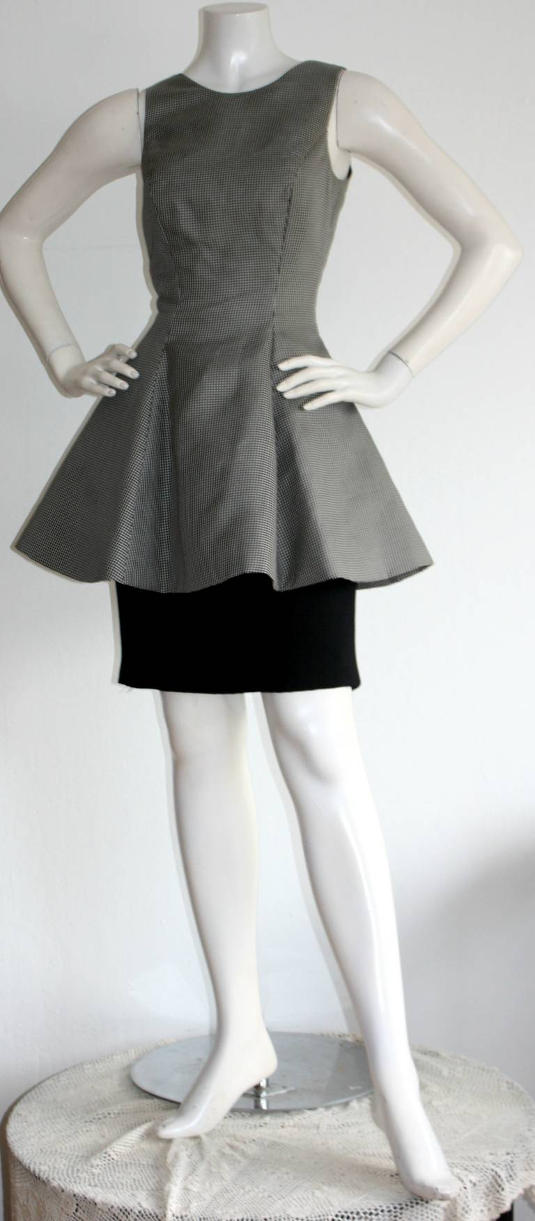 Black Vintage James Purcell Houndstooth Dress Avant Garde Space Age For Sale