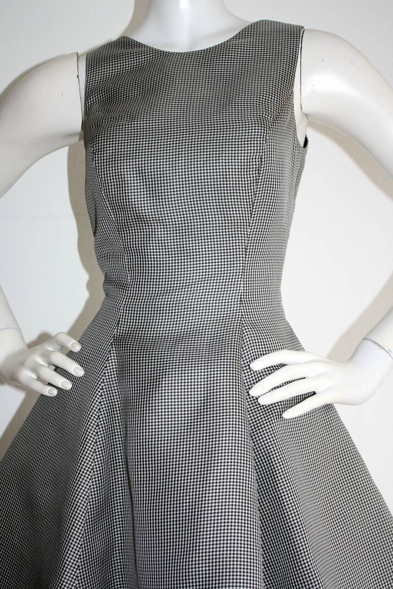 Vintage James Purcell Houndstooth Dress Avant Garde Space Age In Excellent Condition For Sale In San Francisco, CA