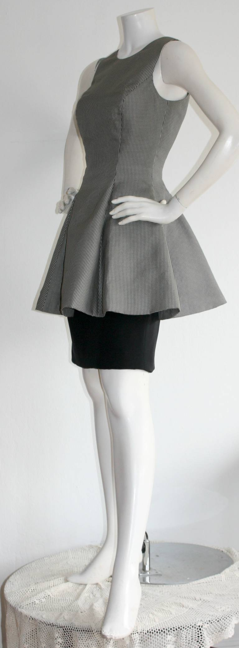Women's Vintage James Purcell Houndstooth Dress Avant Garde Space Age For Sale