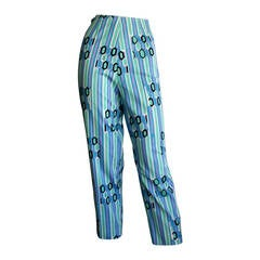 Beautiful 1960s Vintage Emilio Pucci Cropped Pin- Up High Waisted Trousers
