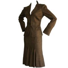 """Vintage Brioni Suit """" Bonnie & Clyde """" 1930s Style Brown & Black"""