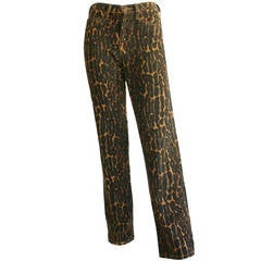 Vintage Told Oldham Leopard Skinny Jeans Trousers - Hard To Find!