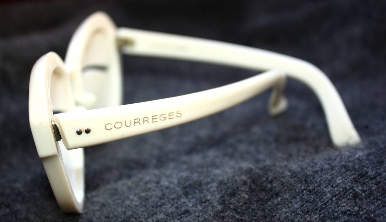 1964 Iconic Vintage Andre Courreges Eskimo Glasses Rare Museum Quality 2