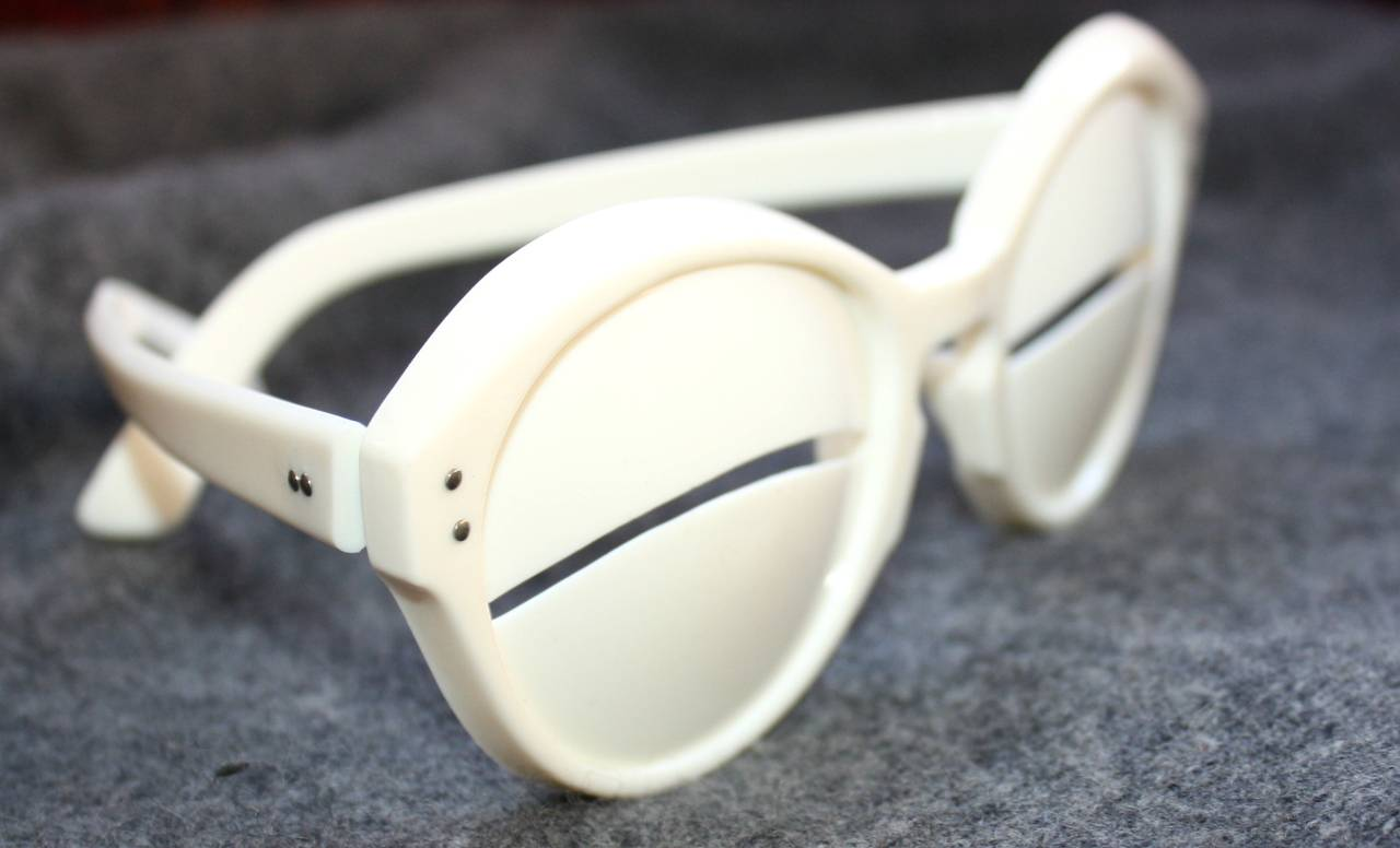 1964 Iconic Vintage Andre Courreges Eskimo Glasses Rare Museum Quality 4