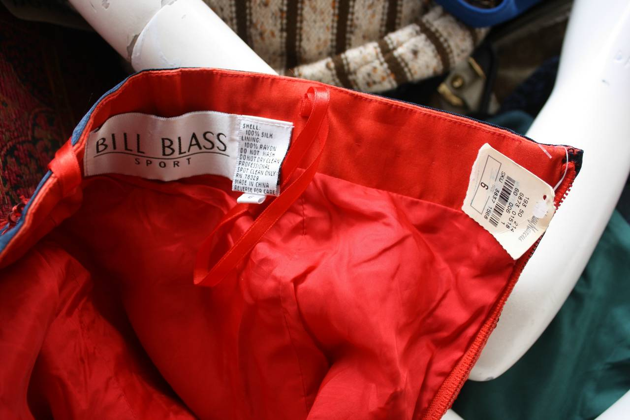 Brand New Vintage Bill Blass Red Sequin Bow Bustier Top For Sale 1