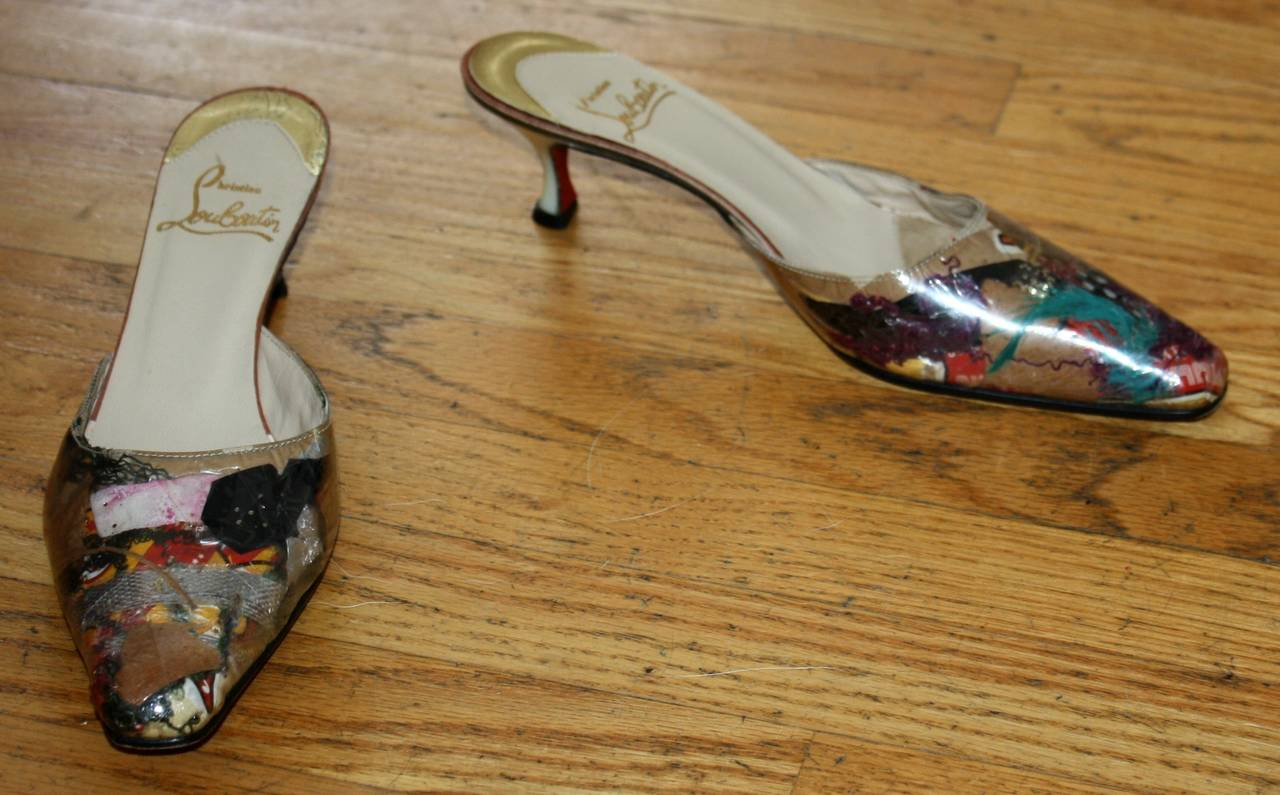 christian louboutin trash collection mules