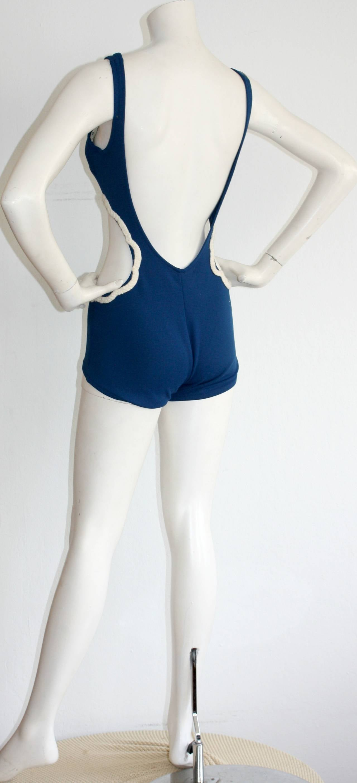 1960s Vintage Oleg Cassini ' Peter Pan ' Space Age Cut-Out Swimsuit For Sale 1