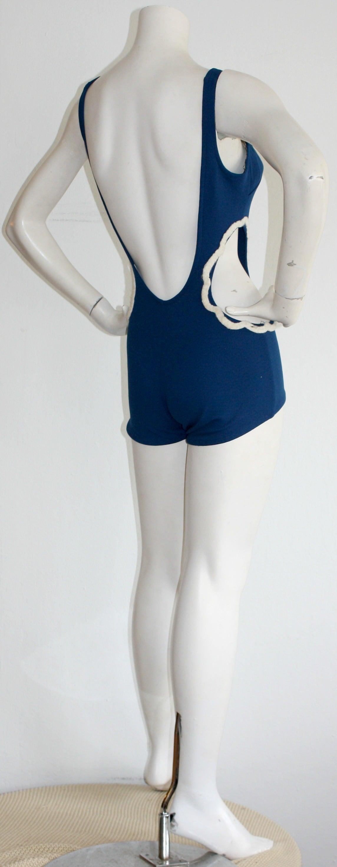 1960s Vintage Oleg Cassini ' Peter Pan ' Space Age Cut-Out Swimsuit For Sale 2