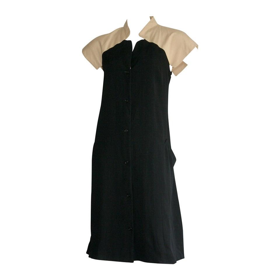 Very Rare Vintage Halston Oriental Asian Theme A-Line Dress For Sale ...