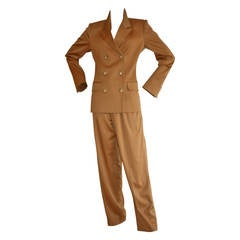 Iconic Vintage Yves Saint Laurent Le Smoking Suit Double Breasted Chic