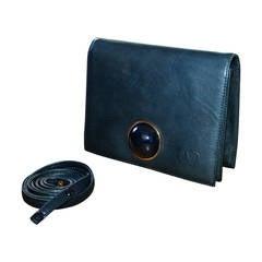 Rare 1960s Vintage Valentino Navy Blue Space Age Convertible Clutch Handbag