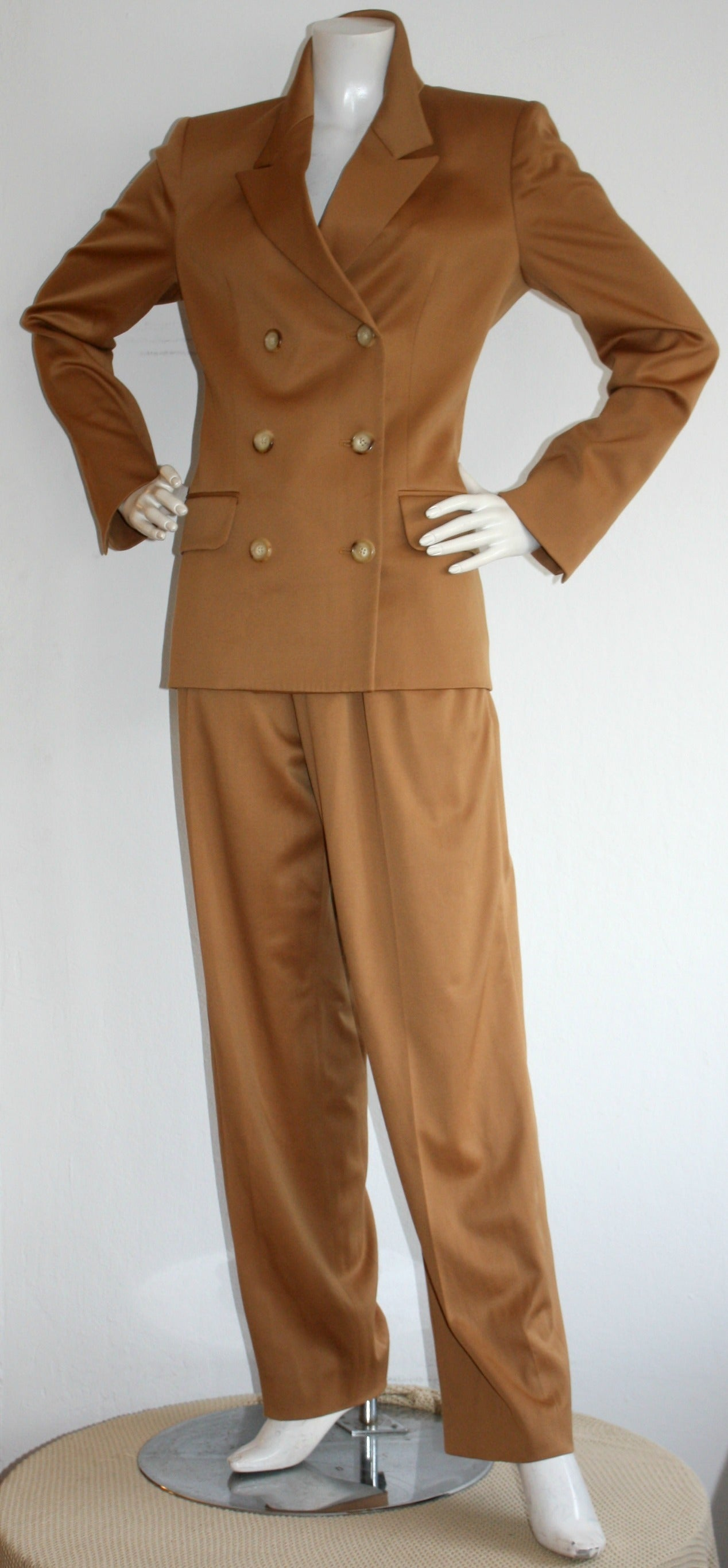 Iconic Vintage Yves Saint Laurent Le Smoking Suit Double Breasted Chic 2